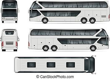 busfahrten, vektor, schablone