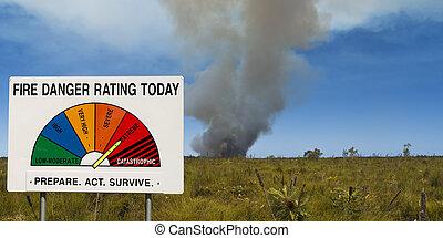 Bush fire danger