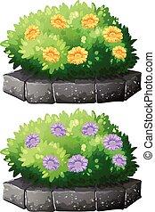 bush, flores