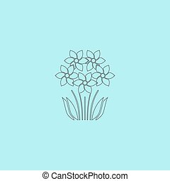 bush flower icon. Vector illustration