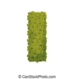 Bush in the shape of a rectangle. View from above. Vector illustration on white background.