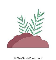 bush leaves branch nature icon