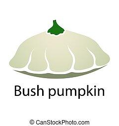 Bush pumpkin icon