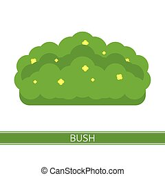 Bush with flowers Icon