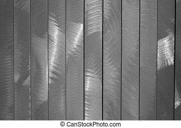 Bushed Metal - Vertical strips of brushed metal