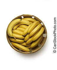 Bushel basket of bananas