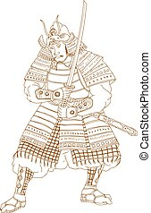 Bushi Samurai Warrior Drawing