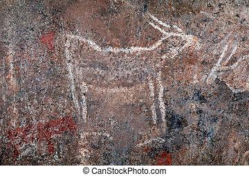 Bushmen rock painting - South Africa