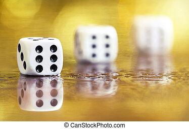 Businees success - winner six dice