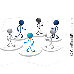 Businees team people logo vector