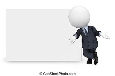 busines, blanc, homme, gens fonctionnement