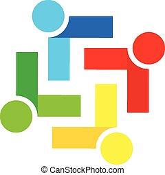 busines, logo, vecteur, collaboration, gens
