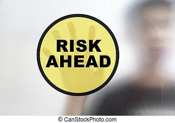 Busines man and risk management concept