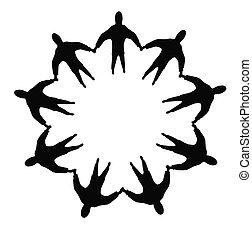 busines people circle