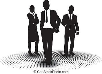 busines people - three business people