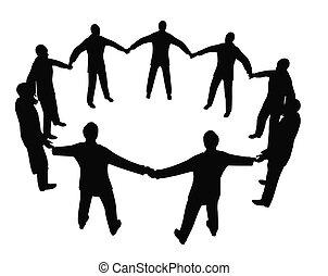 busines, pessoas, círculo, 2