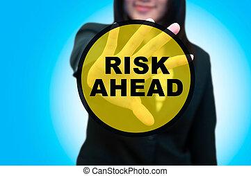 Busines woman and risk management concept