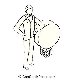 businesman with light bulb idea business