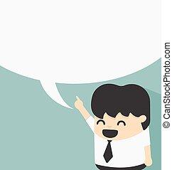 business, à, parole, bulles