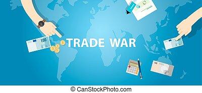 business, échange, commerce global, international, tarif, guerre