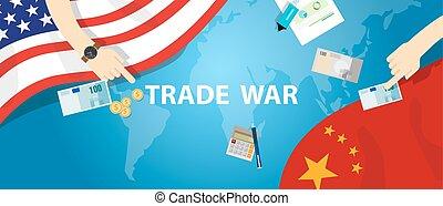 business, échange, commerce global, porcelaine, international, amérique, tarif, guerre
