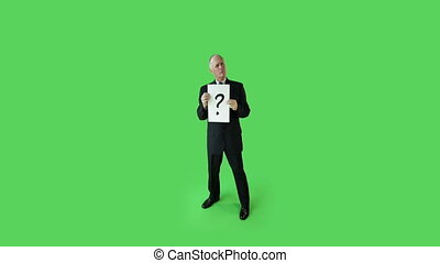 business, écran, confondu, vert, personne agee, caucasien, homme