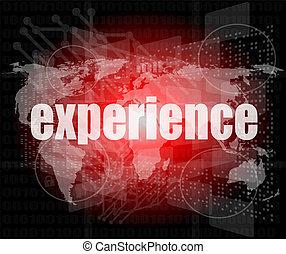 business, écran, expérience, mots, numérique, concept: