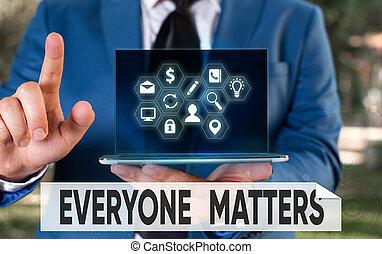 business, écriture, everyone, projection, conceptuel, happens, tout, plus grand, picture., texte, photo, partie, matters., main