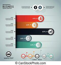 business, étape, gr, escalier, infographics