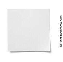business, étiquette, noter papier, blanc, message
