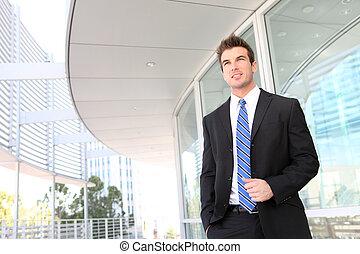 business úřadovna, voják