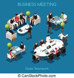 Business 01 People Isometric - Startup Teamwork...