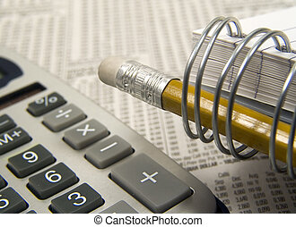 Business 2 - Photo of Calculator, Notepapd, Pencil and...
