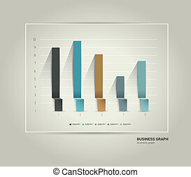 Business 3D design graph.