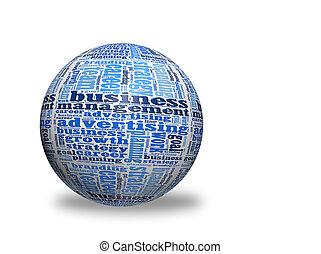business, 3d, sphère