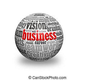 business 3d sphere