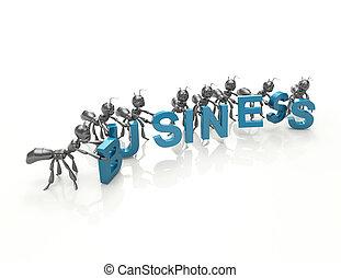Business 3d word concept
