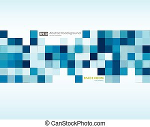 Business abstract blue background. Illustration of abstract texture with squares. Pattern design for banner, poster, flyer, card, postcard, cover, brochure.