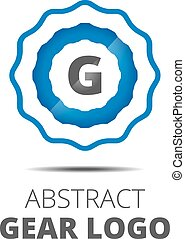 Business Abstract Gear logo