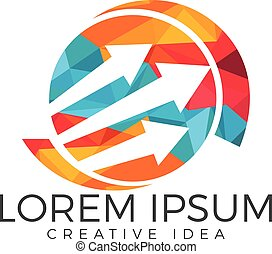 Business abstract logo design.