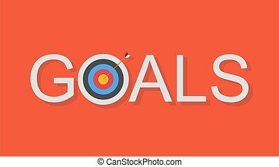 business, accomplissement, buts, concept, vecteur, illustration