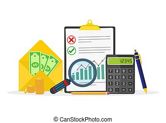 Business accounting concept. Vector illustration