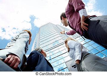 Business achievement - Below view of business partners...