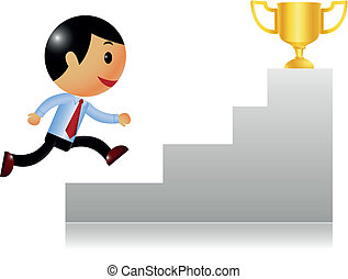 Business achievement - Vector illustration of Business...