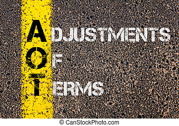 Business Acronym AOT as Adjustments Of Terms