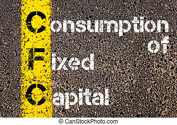 Business Acronym CFC Consumption of fixed capital. Yellow...