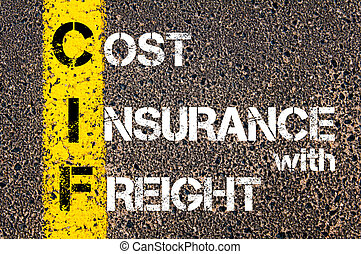 Business Acronym CIF  Cost Insurance With Freight