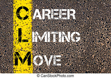 Business Acronym CLM as CAREER LIMITING MOVE