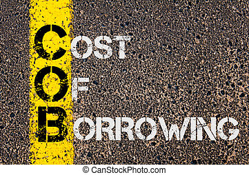Business Acronym COB as Cost Of Borrowing