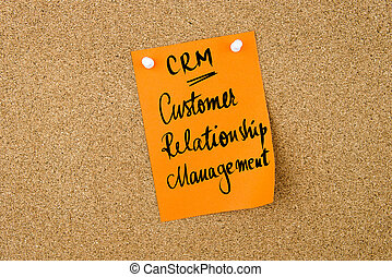 Business Acronym CRM Customer Relationship Management